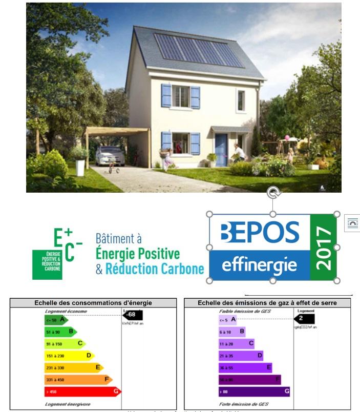 Contruction d'une maison BEPOS et énergie 3 carbone 1 à ERMONT (95)
