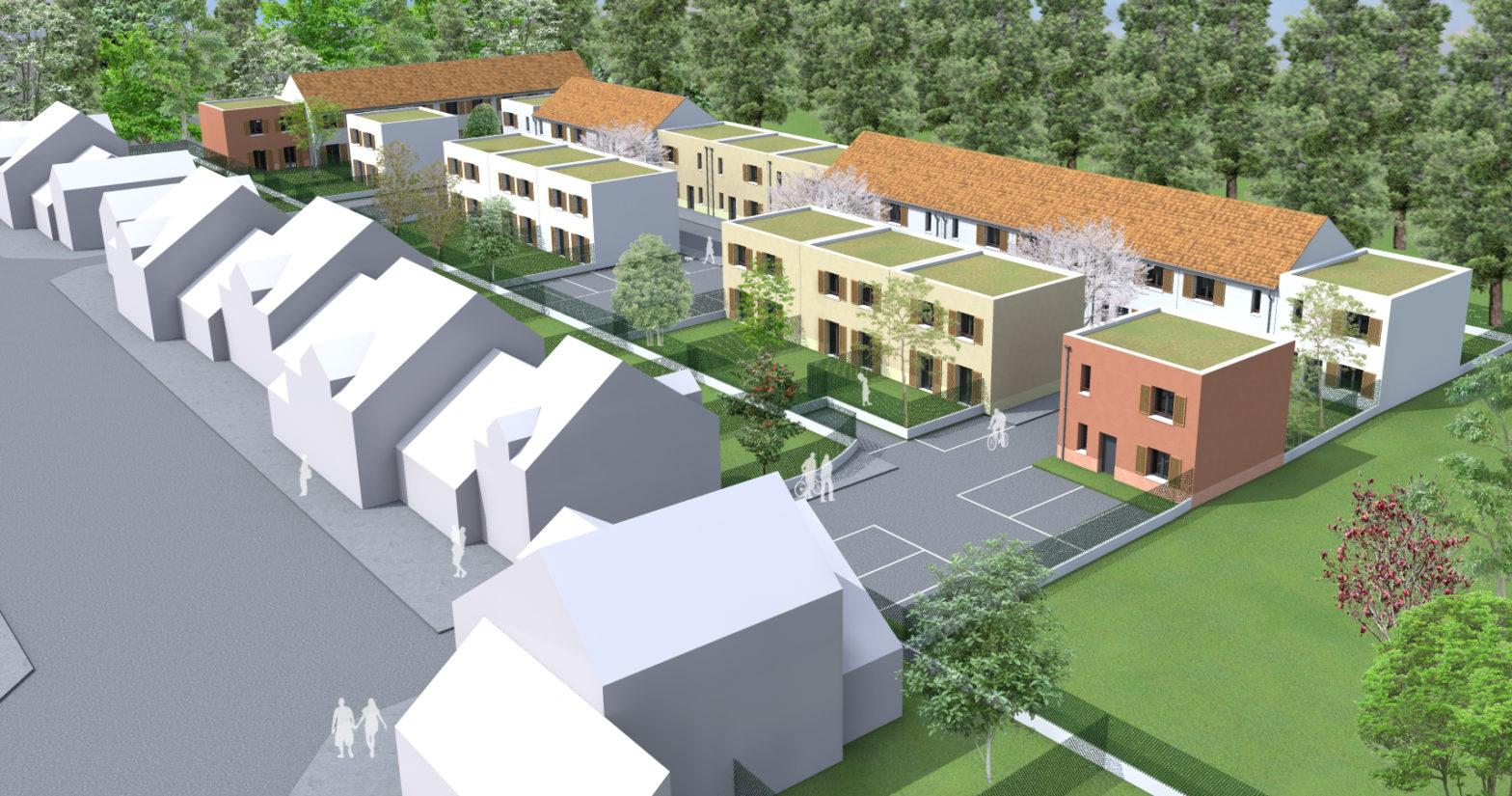 Construction de 28 maisons BEPOS E3C2 et PASSIVHAUS