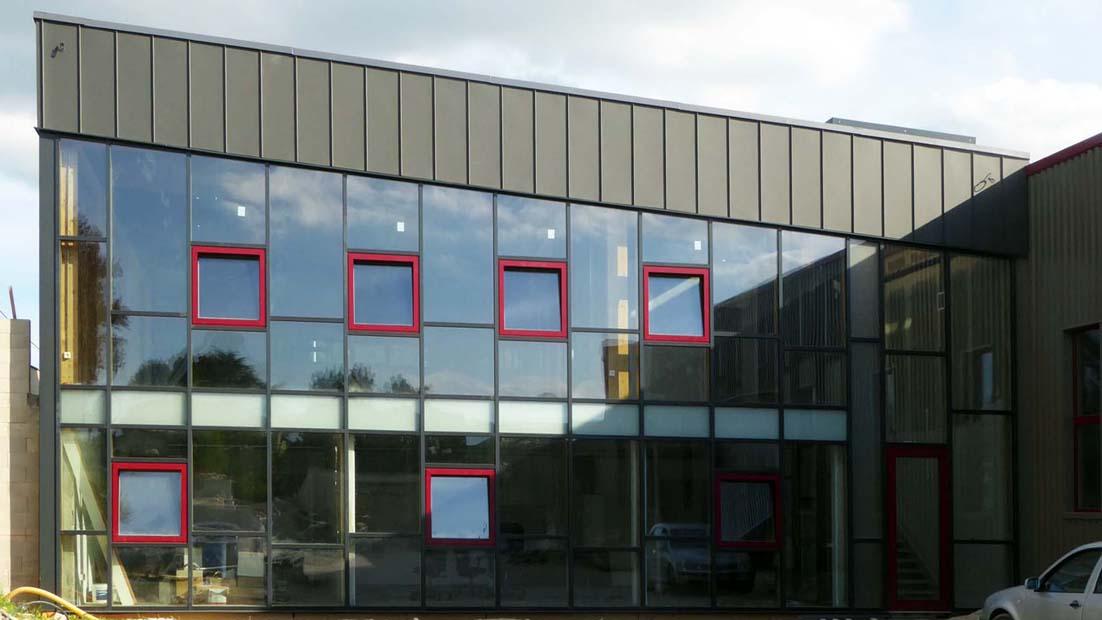 Construction RT 2012 de l'atelier de la société DAVID MENUISERIE